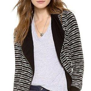 Splendid Fireside Sweater Jacket M Asymmetrical Zi